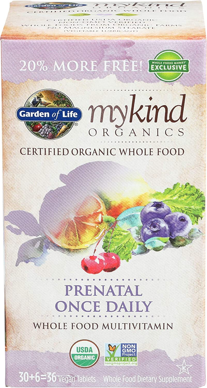 Garden Of Outlet Max 47% OFF SALE Life Prenatal Once Tablets Daily Mykind 36 Organic