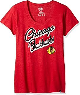 '47 NHL Chicago Blackhawks Women's Club Scoop Tee, Small, Red