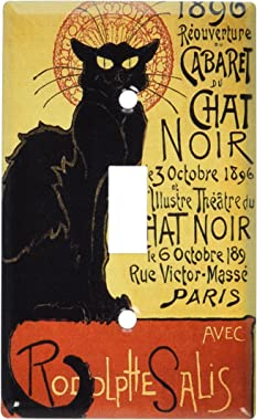 Art Plates - Chat Noir (Black Cat) Switch Plate - Single Toggle