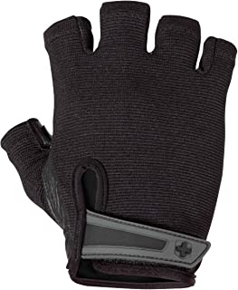 Harbinger Power Non-Wristwrap Weightlifting Gloves with StretchBack Mesh and Leather Palm..