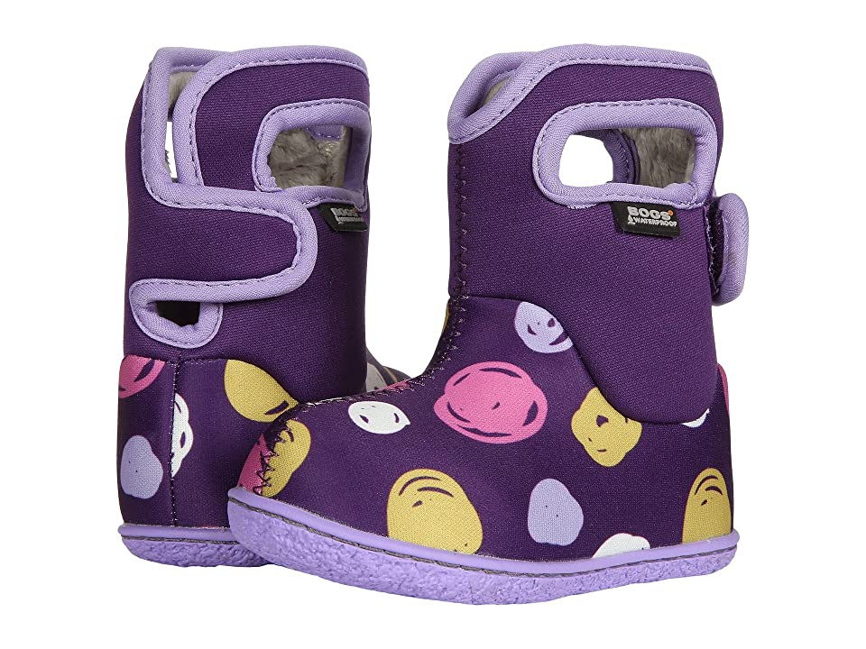 Bogs Kids Baby Bogs Sketch Dots (Toddler) (Purple Multi) Girls Shoes