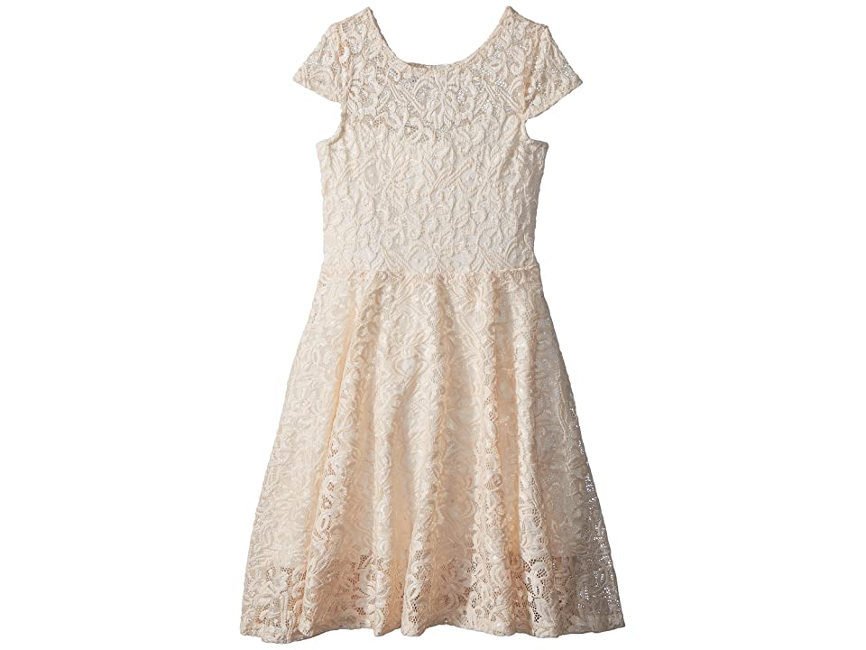 fiveloaves twofish Aurora Lace Skater Dress (Little Kids/Big Kids) (Ivory) Girl