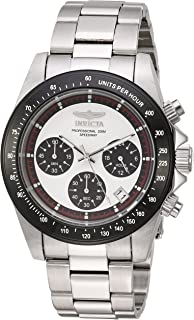 45f0e348b Invicta Men's Speedway Quartz Watch with Stainless-Steel Strap, Silver, 20  (Model