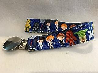 Star Wars Pacifier Clip, Star Wars Ribbon, Pacifier Clip, Star Wars Baby Shower, Star Wars Nursery, Baby Gifts, Custom Baby Gift
