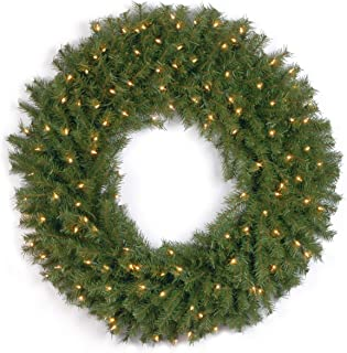 National Tree 36 Inch Norwood Fir Wreath with 100 Clear Lights (NF-36WLO-1)