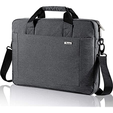 Voova Laptop Bag 15.6 15 14 Inch Briefcase, Expandable Computer Shoulder Messenger Bag Waterproof Carrying Case with Tablet Sleeve, Organizer for Men Women, Business Travel College School-Gray