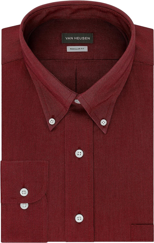 1960s Mens Shirts | 60s Mod Shirts, Hippie Shirts Van Heusen Mens Dress Shirt Regular Fit Oxford Solid Buttondown Collar  AT vintagedancer.com