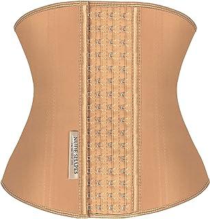 NUDE SHAPES Waist Trainer Corset for Women Latex Cincher Belt Trimmer Shaper Weight Loss Fajas Reductoras y Moldeadoras