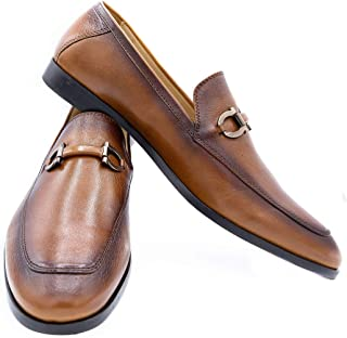 Hand Crafted GOSTENZ Mens Slip on Leather Penny Loafers Casual Dress Shoes