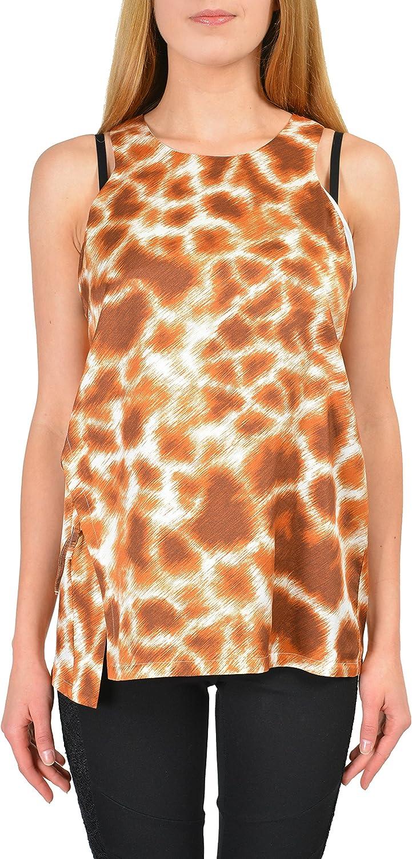 Just Cavalli Multicolor Animal Print Sleeveless Women's Blouse Top US S IT 40