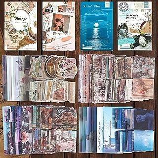 Scrapbooking Autocollant Vintage, 220 Pcs Stickers Scrapbooking, Papier de Scrapbooking pour Deco de DIY Album Diary Photo...