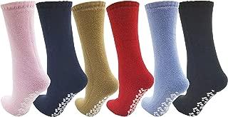 Anti-Slip Slipper Socks, 6 Pairs, Gripper Bottom Indoor House Non-Skid Hospital Sock (Assorted)