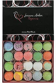 20 HUGE Joanne Arden Organics USA Vegan Bath Bombs Kit. Gifts For Women, Mom, Girls, Teens, Her - Ultra Lush Spa Fizzies - Best Gift Ideas, Premium Lush Bath Bombs Gift Set for Men Women & Kids!