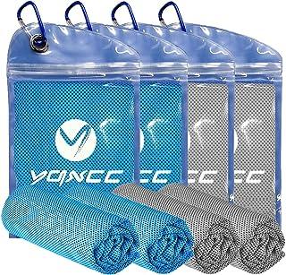 "YQXCC Cooling Towel 4 Packs (47""x12"") Microfiber Towel Yoga Towel for Men or.."