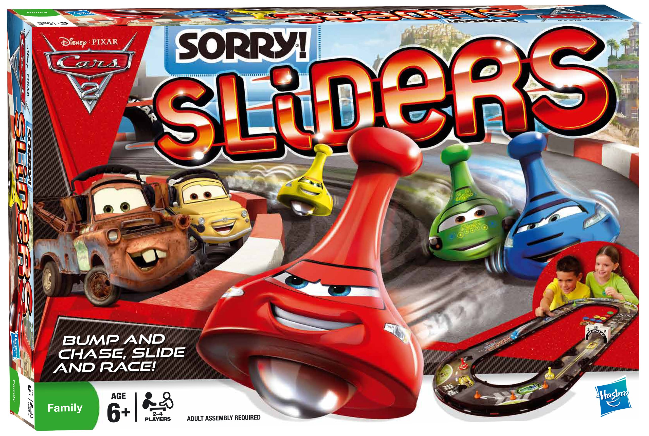Hasbro Sorry Sliders Cars 2 - Juego de Mesa: Amazon.es: Juguetes y juegos