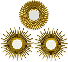 Gold Mirrors for Wall Pack of 3 - BONNYCO | Wall Mirrors for Room Decor & Home Decor | Gold Round Mirrors for Wall Decor |...