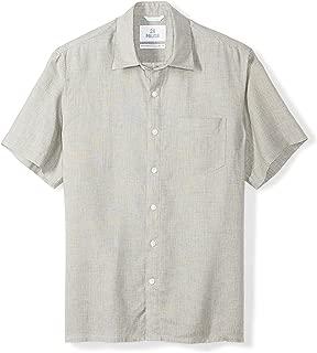 28 Palms Men's Standard-Fit Short-Sleeve 100% Linen Shirt