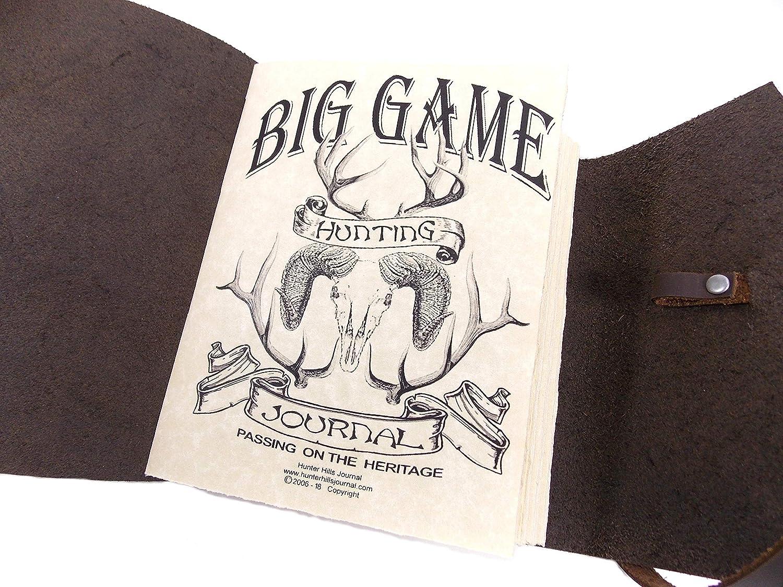 Leather Hunting Journal Rustic Handmade Ranking 55% OFF TOP20 Dark Brown