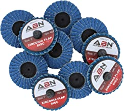 ABN 2in T27 40 Grit High Density Zirconia Alumina Flat Flap Disc Roloc Roll Lock Grinding Sanding Sandpaper Wheels 10 PK