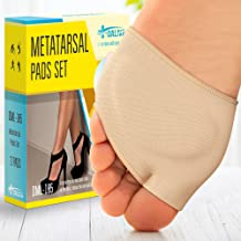 Ball of Foot Cushions (2 Pieces) - Metatarsal Pads | Forefoot Pads of Soft Fabric - Foot Sleeve Mortons Neuroma - Prevent ...