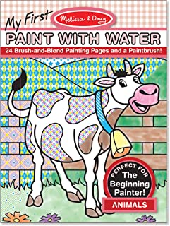 Melissa & Doug 9338 My First Paint with Water Coloring Book: Animals (24 Painting Pages)