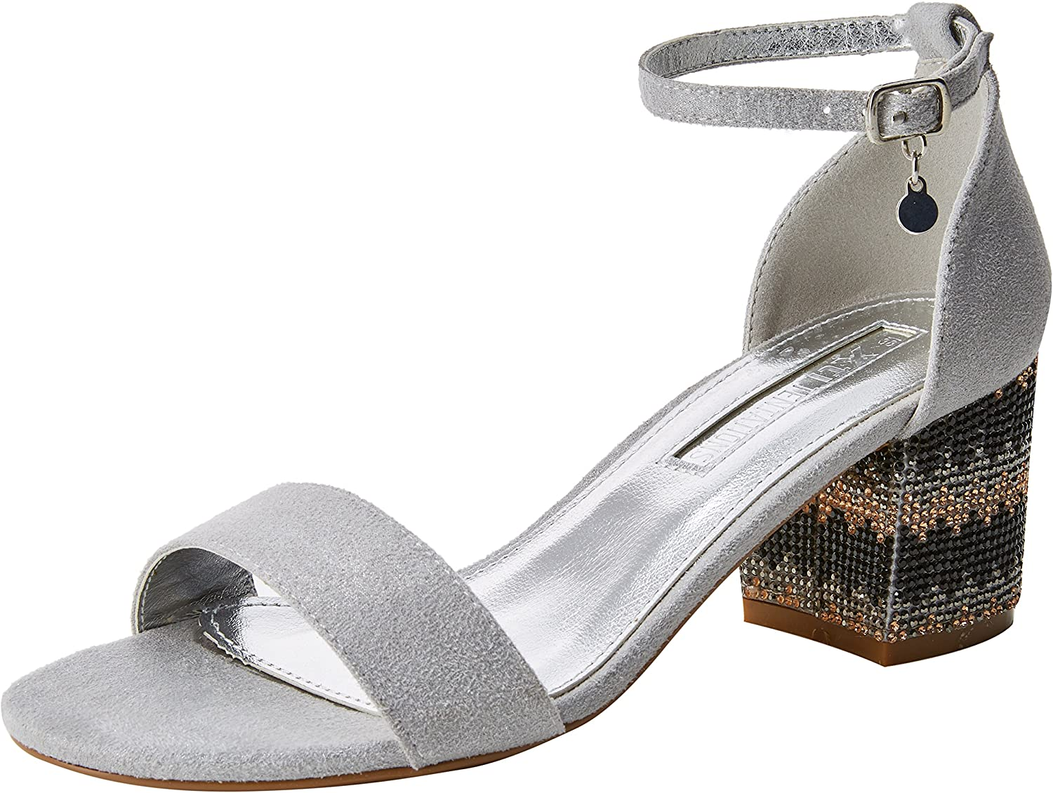 XTI TENTATIONS Women's shoes Low Heel Sandals 30702 silver