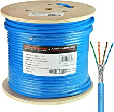 Mediabridge Solid Copper Cat7 Ethernet Cable (500 Feet, Blue) - Low-Smoke Zero Halogen Jacket (Part# C7-500-BLUE)
