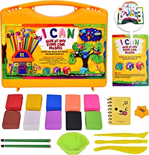 KRAFTZLAB Make Your Own Mini Erasers Clay Craft Kit – All in One Mini Erasers Set in Carry and Go Plastic Suitcase – Ultimate DIY Craft Kits Gift Idea for Kids