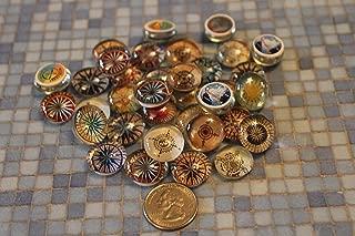 Geocache Mini Glass Trading Stones - 15 Pcs Compass Set