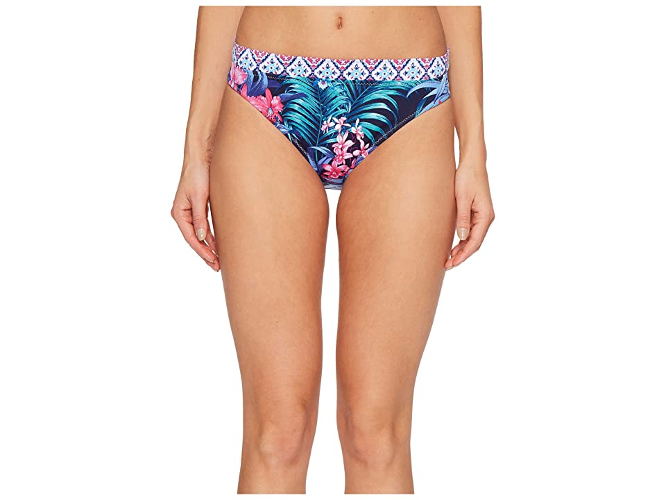 Tommy Bahama Majorelle Jardin Reversible Hipster Bikini Bottom (Mare Navy) Women