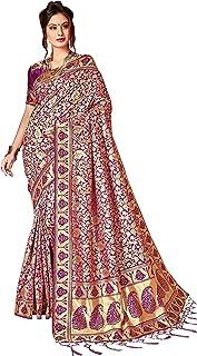 Viva N Diva Sarees for Women`s Kanchivaram Art Silk Heavy Zari Woven Saree with Un-Stiched Blouse Piece,Free Size