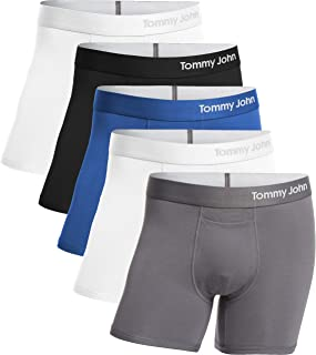 Tommy John Men's Cool Cotton Trunks - 5 Pack - Comfortable Breathable Boxer Brief Underwear for Men