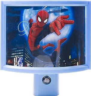 Jasco  Marvel Ultimate Spider-Man Light-Sensing LED Night Light, Red/Blue, 13377