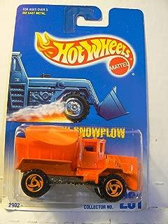 Hot Wheels Oshkosh Snowplow #201 with 3 Spoke Razor Wheels on Blue and White Card