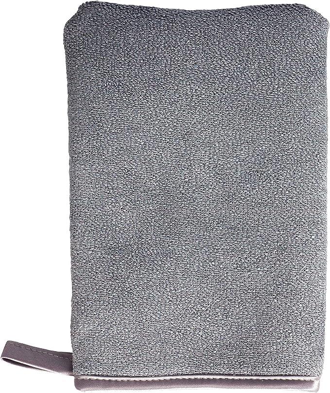 Sonty Stück Reinigungshandschuh Microfaser Mit Schwamm 13 X 20 Cm Grau 3 Drogerie Körperpflege