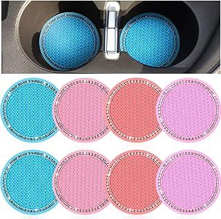 Porta-copos para carro Frienda 8 peças Bling Car Cup Porta-copos para viagem automóvel Porta-copos com enchimento antiderr...