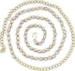 I Jewels Traditional Gold Plated Kundan Kamarband for Women (B019)