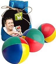 "Mister M ✓ 3 Juggling Balls ✓ Plus an Online Video ✓ in a Burlap Bag ✓ ""The Ultimate Juggling Set (Blue, 3)"