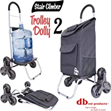 dbest products Stair Climber Trolley Dolly 2, Black Shopping Grocery Foldable Cart Condo Apartment