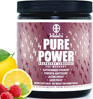 Pre Workout, Best All Natural PreWorkout Supplement. PURE POWER, Healthy Pump, Clean, Keto Vegan, Paleo, Th...