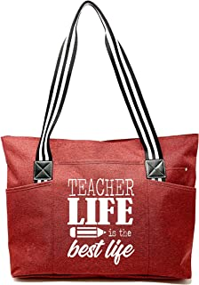 teacher tote bags personalized