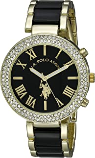 U.S. Polo Assn. USC40061 Reloj de cuarzo con visualización analógica en dos tonos para mujer