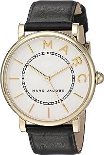 ساعة انالوج كوراتز ياباني للنساء بسوار من جلد العجل من مارك جايكوبز Mj1532، سوار اسود