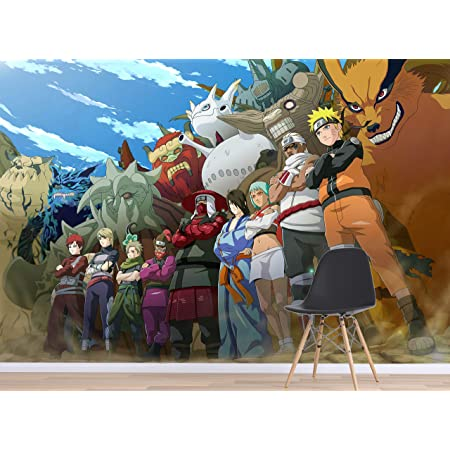 Details about  /3D Naruto Hatake Kakashi I810 Japan Anime Wallpaper Mural Cartoon Wall Mural Amy
