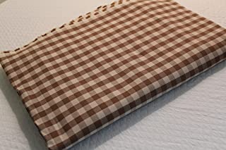 Toffee Check Fabric by The Yard