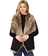 "Marc New York by Andrew Marc Sedona 25"" Faux Racoon Vest"