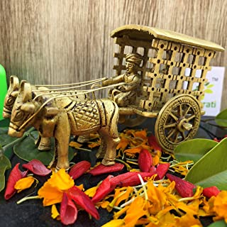 Aakrati Vintage Metal Brass Antique Finish Bull cart