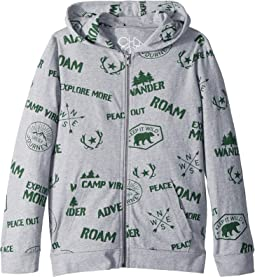 Chaser Kids - Cotton Jersey Camp Badges Hoodie (Little Kids/Big Kids)