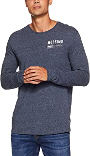Mossimo Men's All The Small Things LS TEE, Midnight Ink Marle