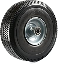 """NK Heavy Duty Solid Rubber Flat Free Tubeless Hand Truck/Utility Tire Wheel, 4.10/3.50-4"""" Tire, 2-1/4"""" Offset Hub, 5/8"""" Bearing"""